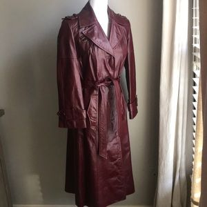 VINTAGE 70s Etienne Aigner  leather trench coat